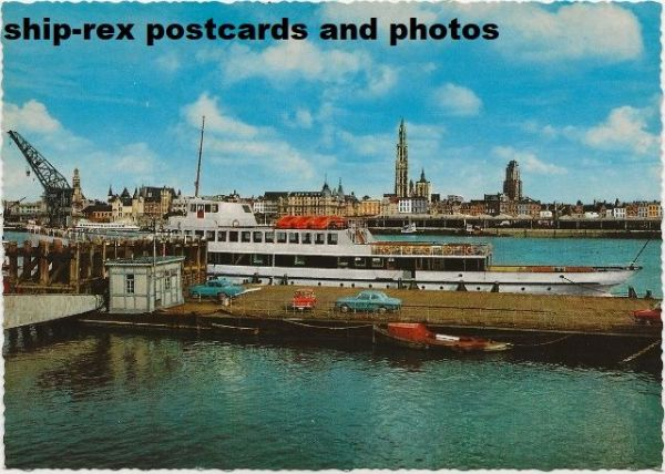 Antwerp (Belgium) port, postcard (a)